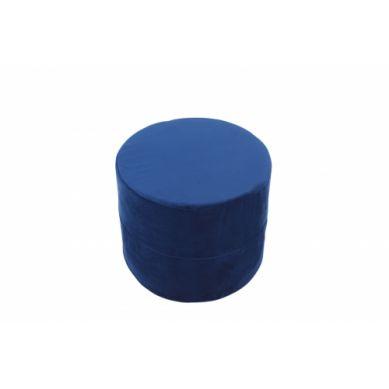 Misioo - Pufa Okrągła Velvet Granatowy