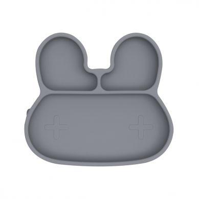 We Might Be Tiny - Silikonowy Talerzyk z Przyssawką Króliczek Grey