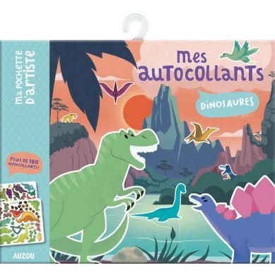 Auzou - Naklejki z Planszami Dinozaury 3+