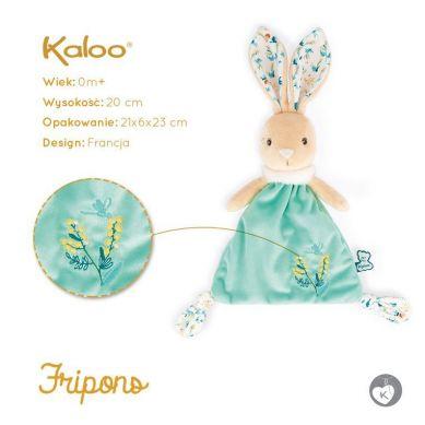 Kaloo - Komforter Trójkątny Zajączek Justin 20 cm w Pudełku Kolekcja Fripons