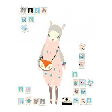 Maki Mon Ami - Plakat Lama Mila Śpiaca (B2)