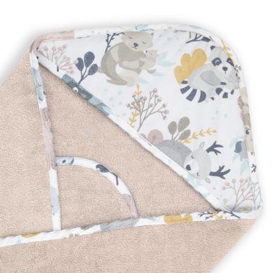 ColorStories - Ręcznik Bawełniany z Kapturem Mom and Me Beżowy 72x72cm
