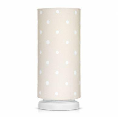 Lamps&co. - Lampka Nocna Lovely Dots Beige ze Ściemniaczem