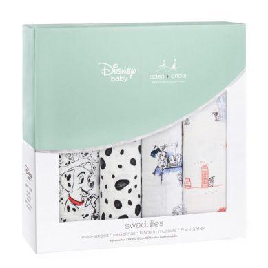 aden + anais - Otulacz Muślinowy Disney 101 Dalmatyńczyków 4szt