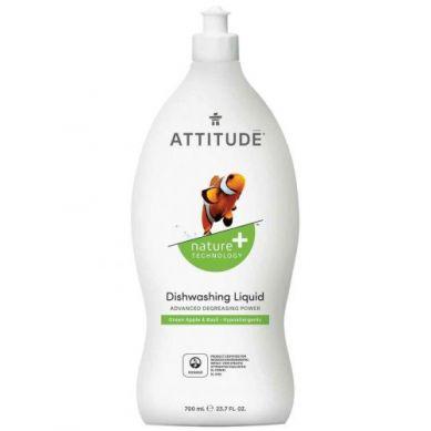 Attitude - Płyn do Mycia Naczyń Zielone Jabłuszko i Bazylia Green Apple i Basil 700 ml