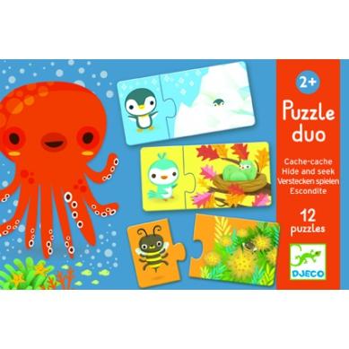 Djeco Duo Puzzle Zabawa w Chowanego