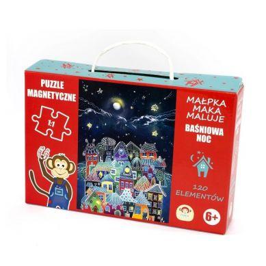 Maka Kids - Puzzle Magnetyczne Baśniowa Noc Pudełko z Uchwytem