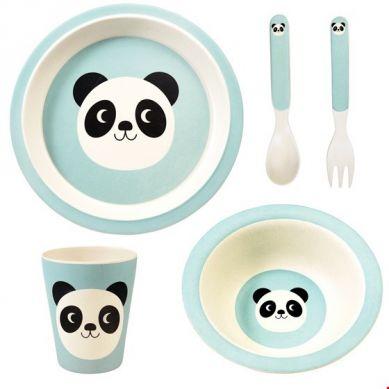 Rex - Zestaw Naczyń Bambusowych Miko The Panda