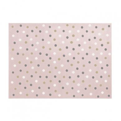 Lorena Canals - Dywan Akrylowy Dots Pink-Grey Linen White