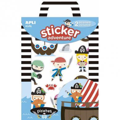 Apli Kids - Zestaw Naklejek z 2 Planszami Piraci