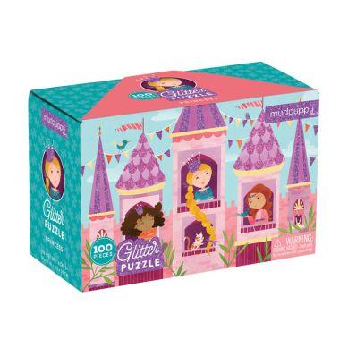 Mudpuppy - Puzzle z Brokatem Księżniczka 100 Elementów