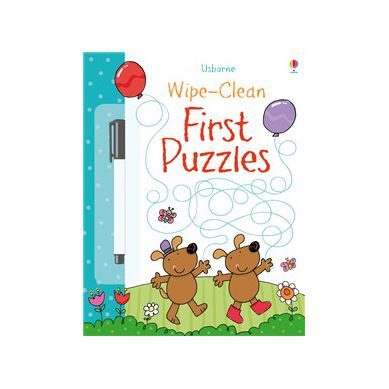 Wydawnictwo Usborne Publishing - Wipe-clean First Puzzles