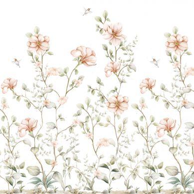 Dekornik - Tapeta Rajski Ogród Pastel White 100cm