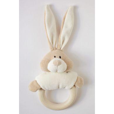 Wooly Organic - Organiczna Grzechotka z Drewnianym Gryzakiem Classic Bunny