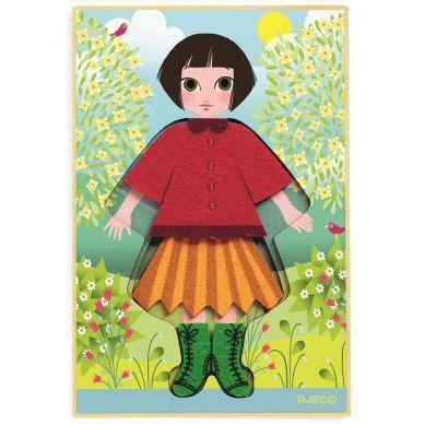 Djeco - Układanka Drewniana Cleo Tricot