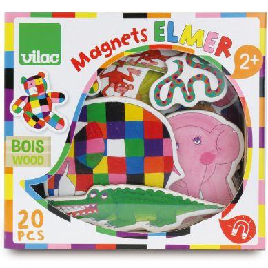 Vilac - Magnesy Drewniane Zwierzęta 20szt Elmer