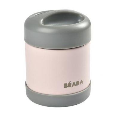 Beaba - Pojemnik - Termos Obiadowy ze Stali Nierdzewnej z Hermetycznym Zamknięciem 300 ml Dark Mist/Light Pink