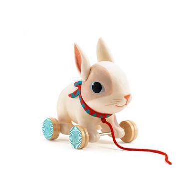 Djeco - Zabawka do Ciągnięcia Królik Colin
