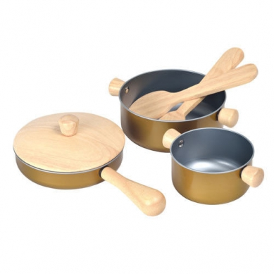 Plan Toys Drewniane Przybory Kuchenne