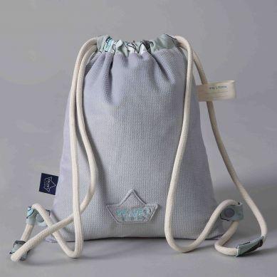 La Millou - Plecak Double Pack Velvet Colletion Dark Grey Unicorn Rainbow Knight
