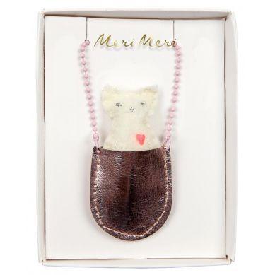 Meri Meri - Naszyjnik Kot w Kieszonce