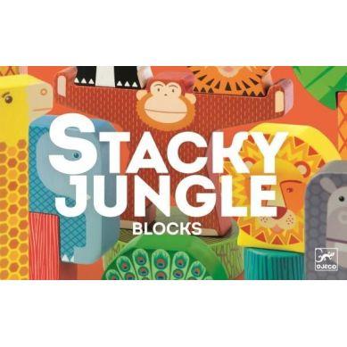 Djeco - Zabawka Wczesnorozwojowa Stacky Jungle 2+