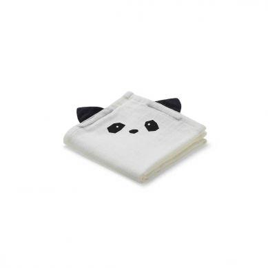Liewood - Pieluszka Muślinowa 2pak Panda creme de la creme