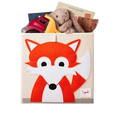 3 Sprouts - Pudełko na Zabawki Lisek Orange