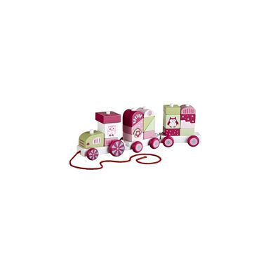 Kids Concept - Pociąg z Klockami Rożowy