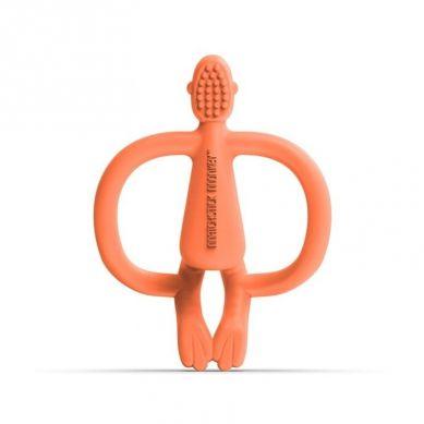 Matchstick Monkey - Gryzak Masujący ze Szczoteczką Dusty Orange