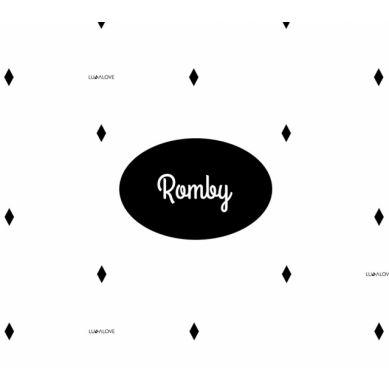 Lullalove - Pieluszka 40x40 Romby