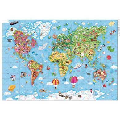 Janod - Puzzle Mapa Świata 300el.