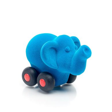 Rubbabu - Słoń Pojazd Sensoryczny Niebieski Mikro