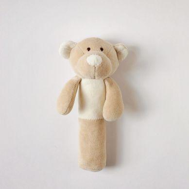 Wooly Organic - Organiczna Grzechotka Classic Teddy 17cm
