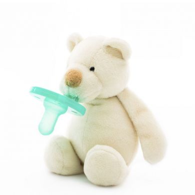 Minikoioi - Smoczek Uspokajający z Przytulanką White Bear