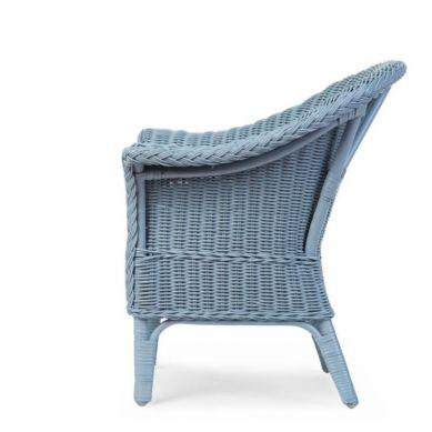 Childhome - Fotel Wiklinowy Dziecięcy Mimo Cloud Blue + Poduszka