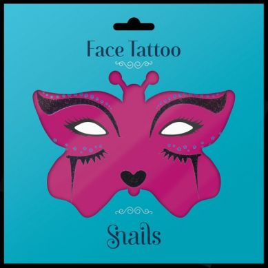 Snails - Naklejki na Twarz Snails Face Tattoo Midnight Cat