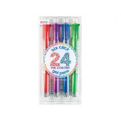 Ooly - Długopisy Żelowe 6-W-1 Zestaw 24 Kolorów 6+