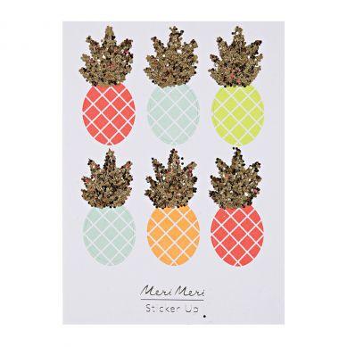 Meri Meri - Zestaw Naklejek Neon Pineapple 3+
