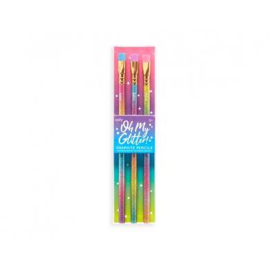 Ooly - Ołówki Błyszczące, Oh My Glitter! 3szt. 6+