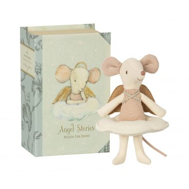 Maileg - Myszka Angel Stories, Big sister mouse in book