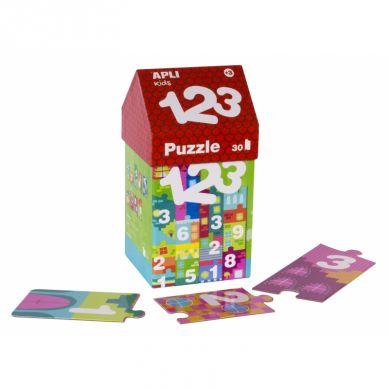 Apli Kids - Puzzle w Kartonowym Domku Cyfry 3+
