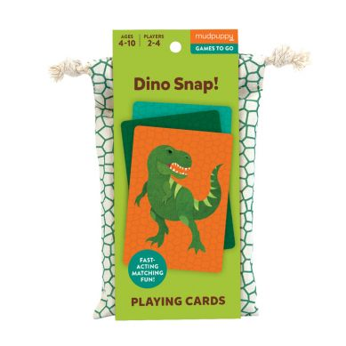 Mudpuppy - Gra Karciana Dino Kłap! W Podróżnym Opakowaniu