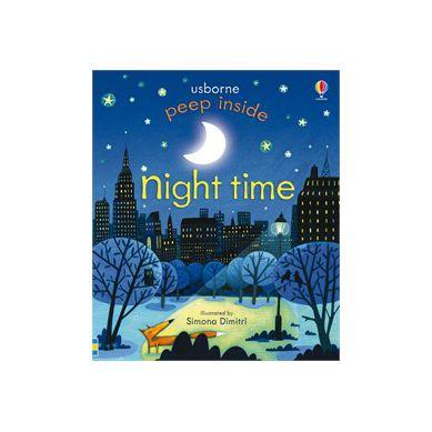 Wydawnictwo Usborne Publishing - Peep Inside Night Time
