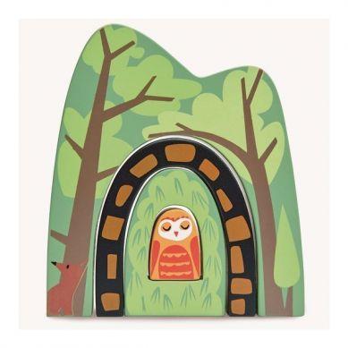 Tender Leaf Toys - Drewniane Akcesoria do Kolejki Leśny Tunel 3+