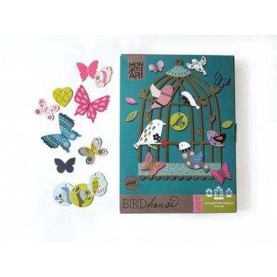 Mon Petit Art Zestaw Kreatywny Klatka dla Ptaków