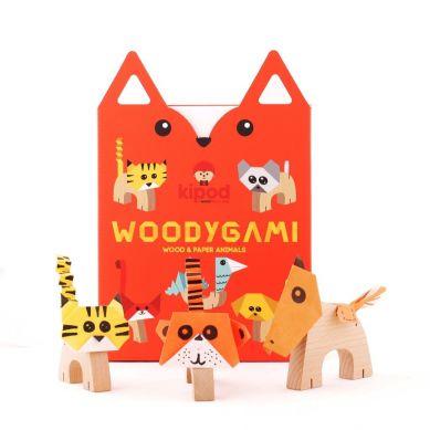 Kidpod -  Drewniane Zwierzątka Origami 5+