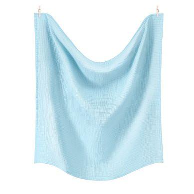 Maki Mon Ami - Pure Double Gauze Otulacz 120x120 Lazurowy Błękit