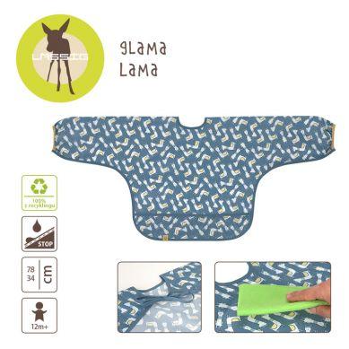 Lassig - Śliniak z Długim Rękawem Glama Lama Blue Repreve