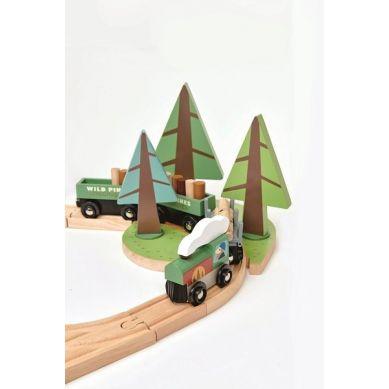 Tender Leaf Toys - Drewniana Kolejka Podróż po Lesie 3+